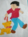 A-Rusaanth-Artwork-3-Boy-with-Pet-Drawing
