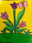 Aaradhana-TA-Artwork-2-Flowers-Butterfly-Painting
