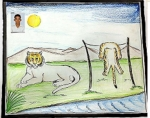 Bhagavathy-Raja-Artwork-Tiger-Fantasy-Painting