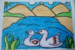Siva-Bhargavi-Artwork-5-Swans-Painting