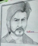 Habiba-Arshiya-Khan-Artwork-4-Shahrukh-Khan-Pencil-Sketch