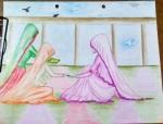 Habiba-Arshiya-Khan-Artwork-8-Village-Women-Painting