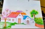 Habiba-Arshiya-Khan-Artwork-9-Village-House-Painting