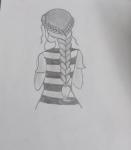S-Samiksha-Artwork-1-Girl-pencil-sketch