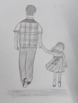 S-Samiksha-Artwork-3-father-daughter-pencil-sketch