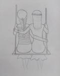 S-Samiksha-Artwork-4-friends-Girls-pencil-sketch