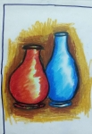 Shreyas-Artwork-1-Pots-Oil-Pastel-Painting