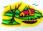 Shreyas-Artwork-3-Landscape-Oil-Pastel-Painting