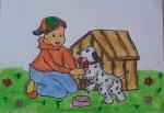 Shrika-Sriram-Artwork-1-girl-with-puppy