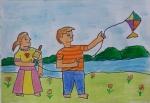 Shrika-Sriram-Artwork-4-Children-playing-kite