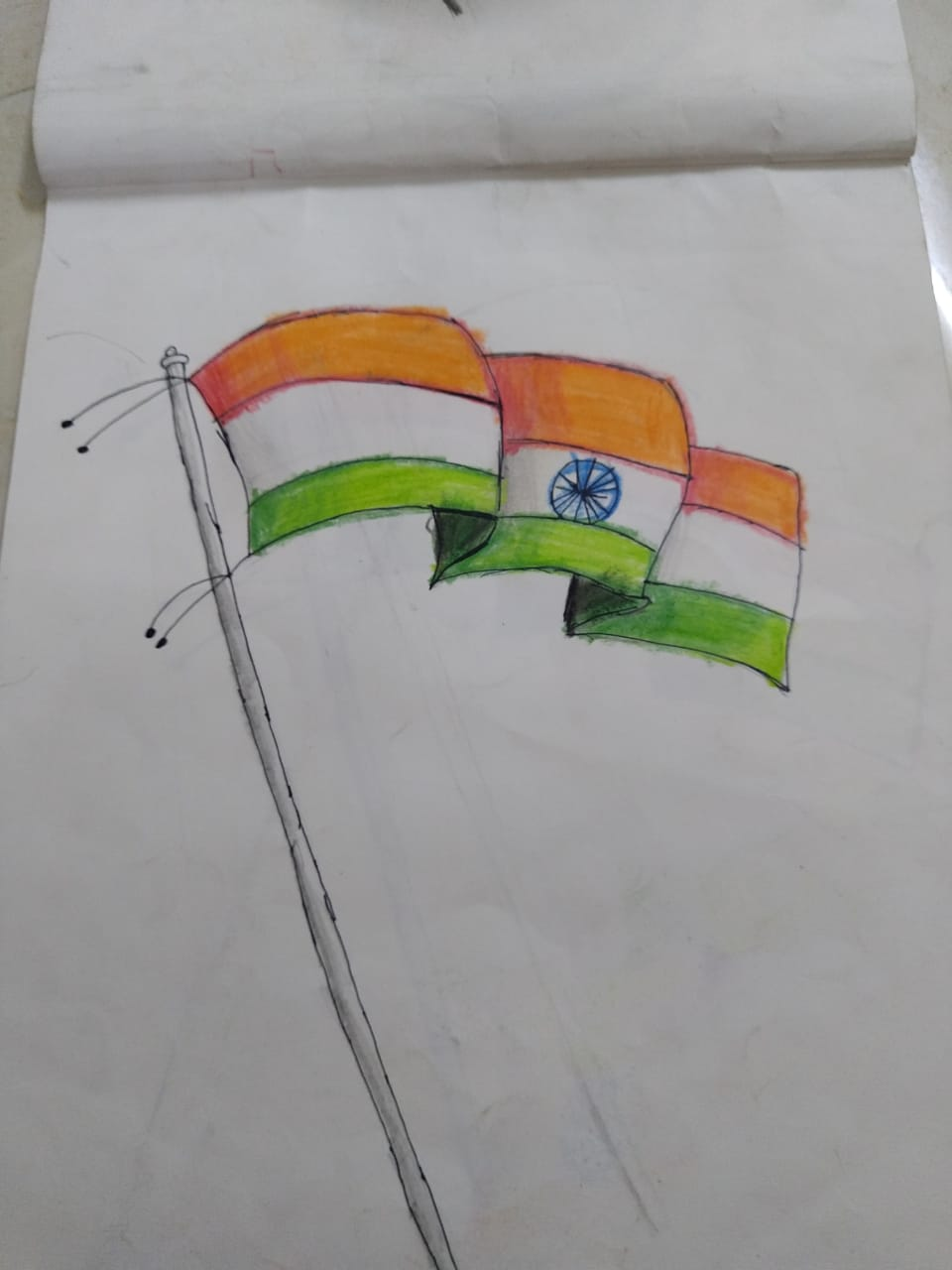 Art Indian Flag Drawing