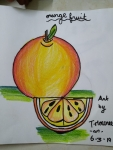 T-Mouneeswaran-ArtWork-4-Orange-fruit-Drawing