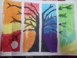 v-monisha-art-work-4-seasons-painting