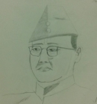 Varun-Gopalan-Artwork-12-Subhash-Chandra-Bose-Pencil-Sketch