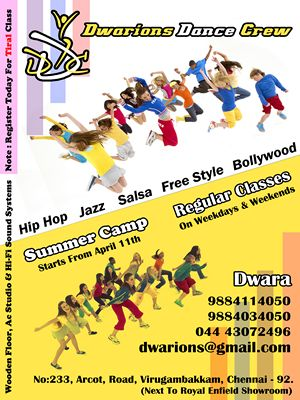 Dwarions Dance Crew Summer Camp