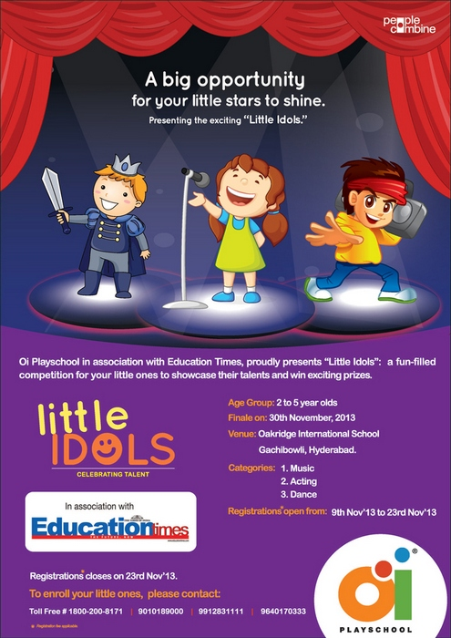 Oi Little Idols Competition for kids