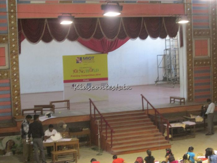 Hindu Young World Painting Competition 2014 finals at SBOA 5