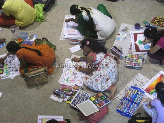 Hindu Young World Painting Competition 2014 finals at SBOA 6