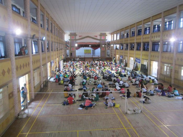 Hindu Young World Painting Competition 2014 finals at SBOA school hall chennai