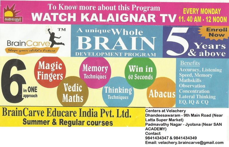 Brain Carve Velachery