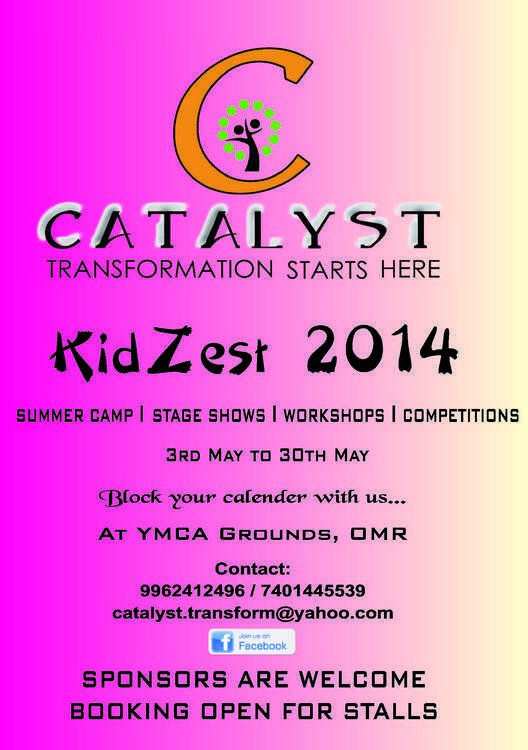Celebrate KidZest 2014 with Catalyst at YMCA Ground, near SRP Tools, OMR