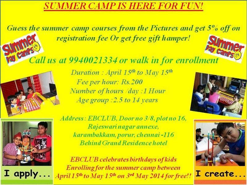 ebclub summer camp 2014