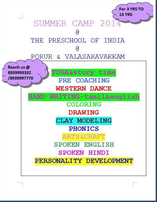 preschool-of-india-summer-camp2014