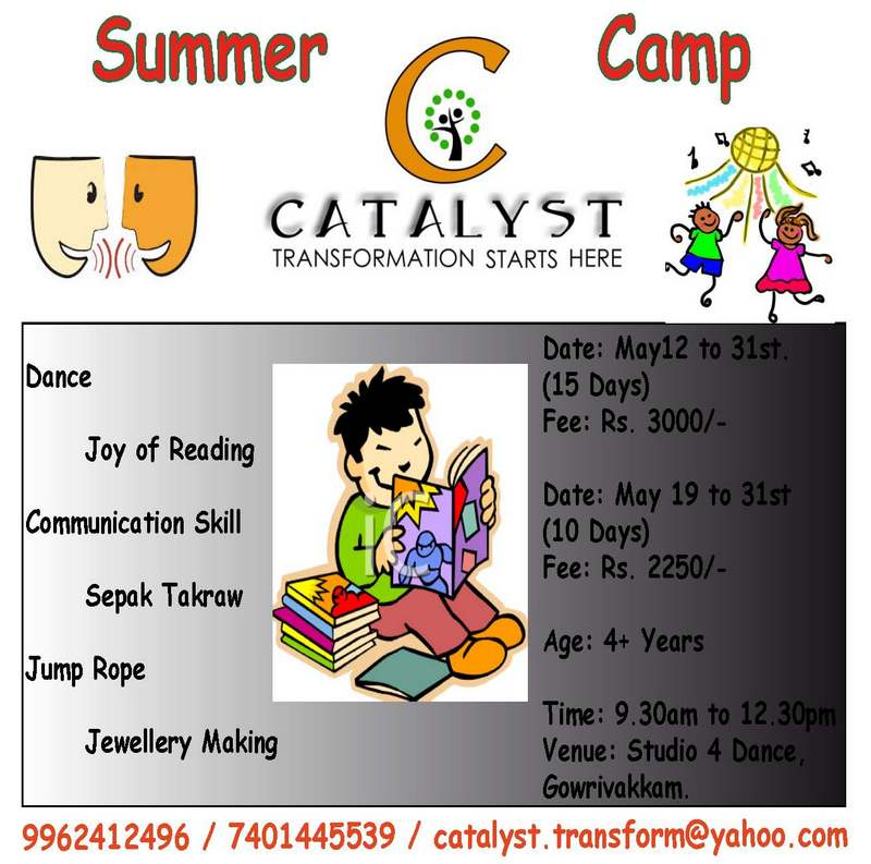 Catalyst conducts Summer Camp for Children @ East Tambaram