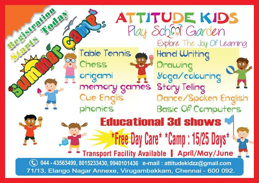 Attitude Kids Summer Camp 2014