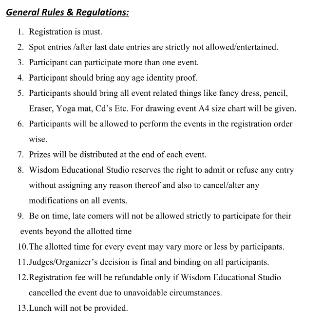 Essay rules regulations