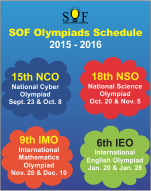 SOF Olympiads Schedule 2015-16