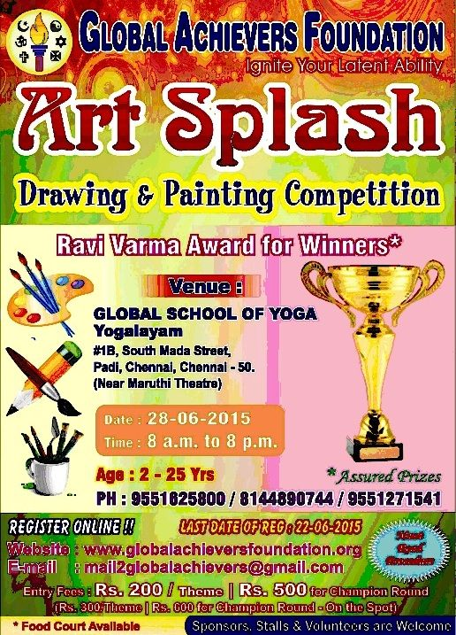 Art splash 2015 drawing painting competition