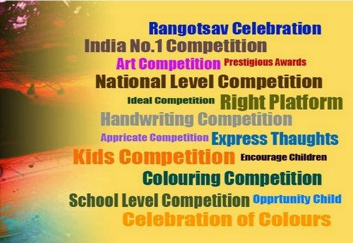 National Level Colouring & Handwriting Competition 2015 by Rangotsav Sanstha