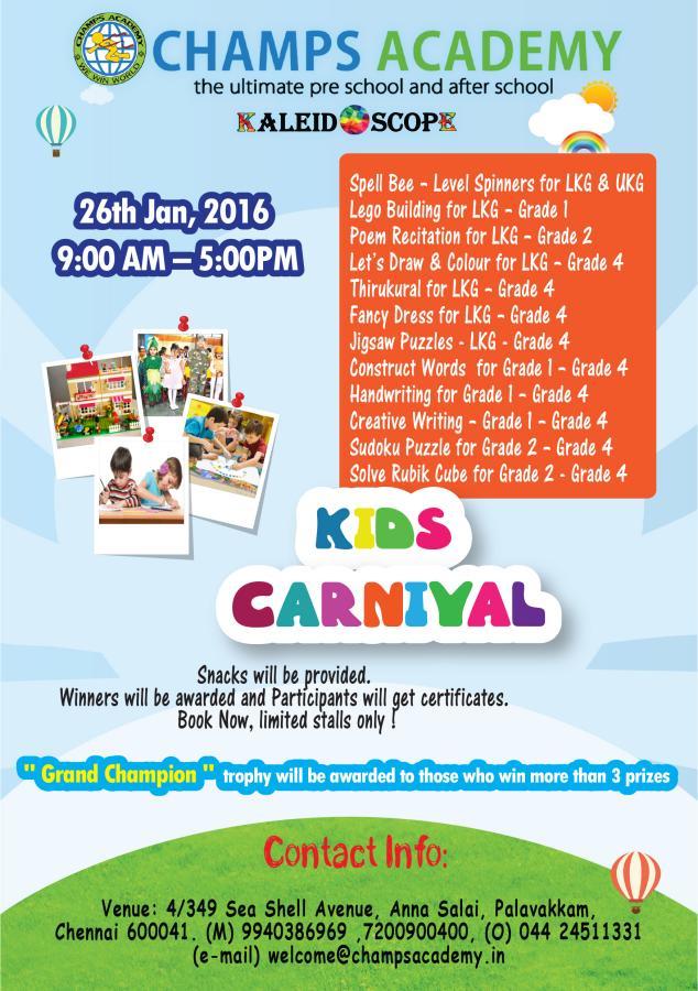 Kids Carnival New Date