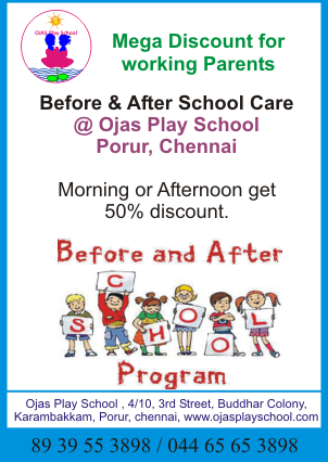 Before  & After School Care @ Ojas Play School – Discount for working parents