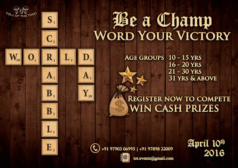 Scrabble Champion on World Scrabble Day