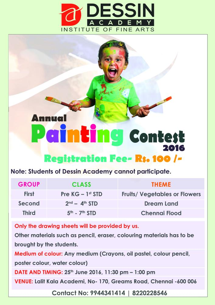 Dessin Academy Painting Competition for Children on June 25, 2016