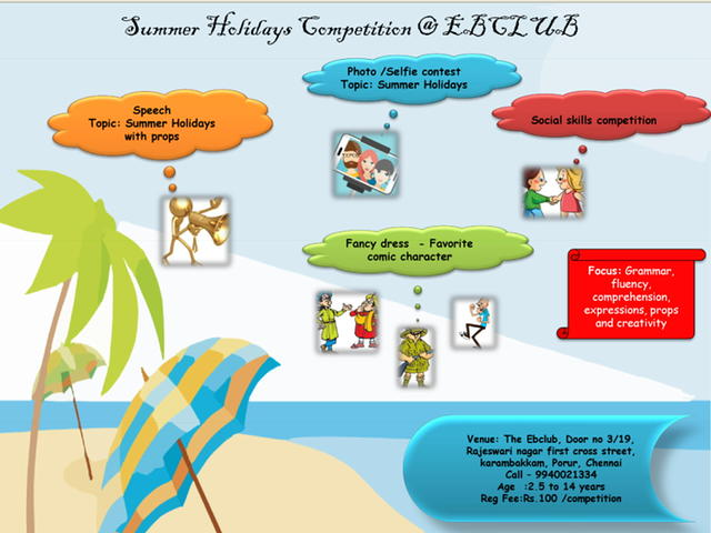 Summer Holiday Competition @ EB Club