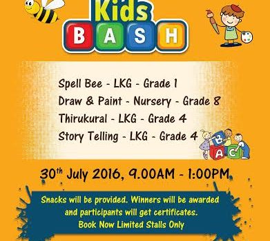 KIDS BASH by Champs Academy on 30th July 2016