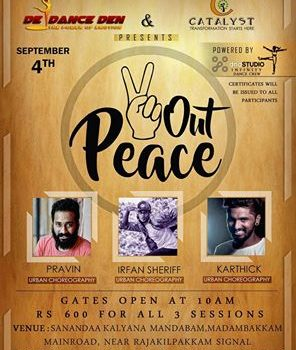 "Dance Workshop – ""Peace Out"" / 04-Sep-2016"