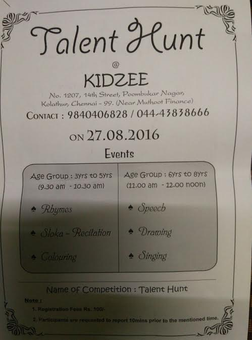 talent-hunt-kidzee-kolathur