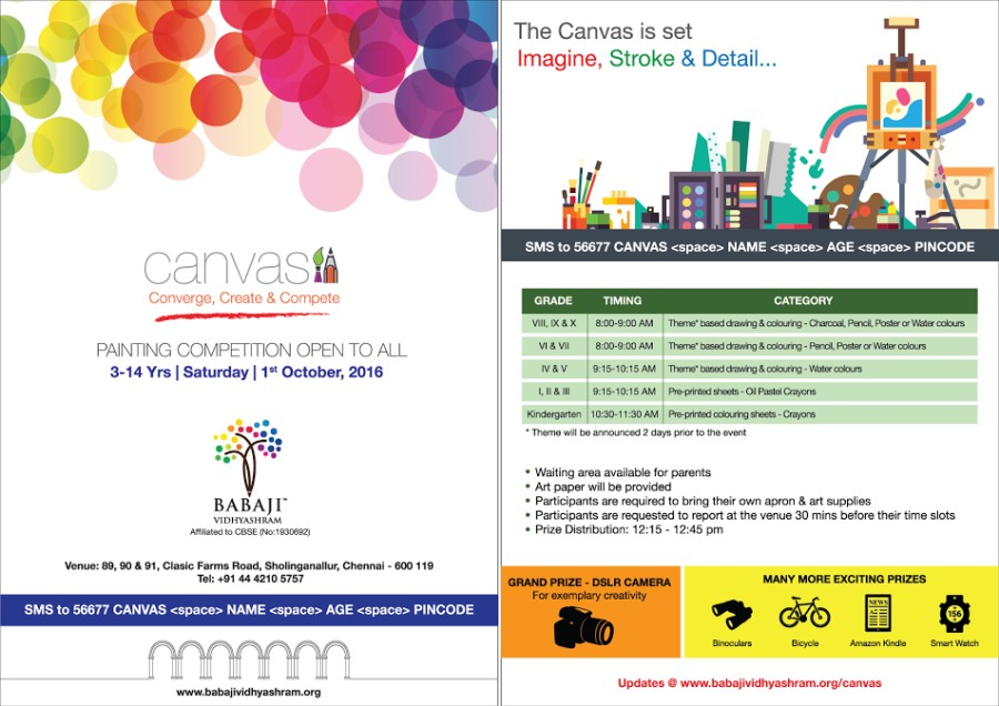 CANVAS – 2016 – Painting Competition for Students 3 – 14 Years on ...