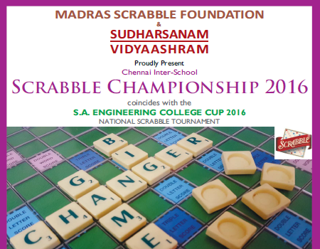 National Scrabble Championship 2016 on Sept' 10, 11, 2016