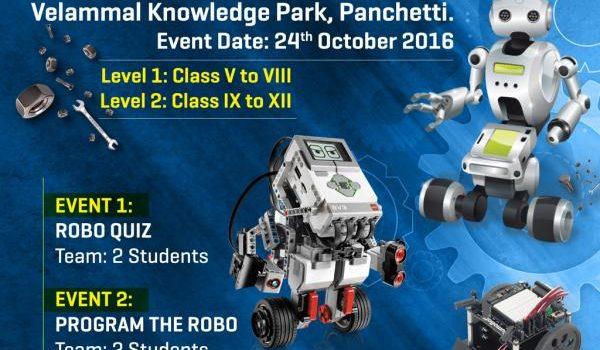 Velammal Robotics Championship 2016