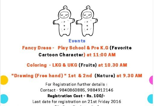Drawing, Colouring & Fancy Dress Contests for kids