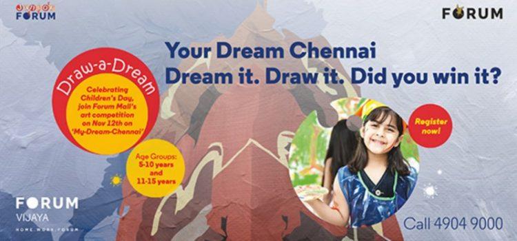 Draw a dream at The Forum Vijaya Mall, Chennai