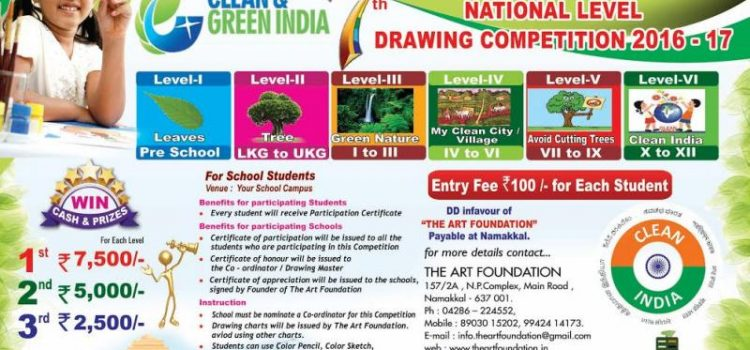 7th National Level Drawing Competition by The Art Foundation