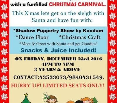 Christmas Carnival for children at Hansel and Gretel Kids