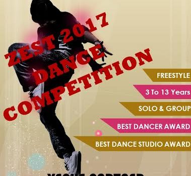 ZEST 2017 – Dance Competition – 8th January 2017