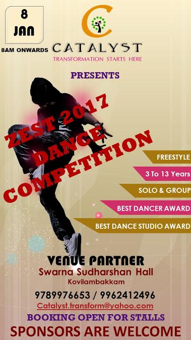 ZEST 2017 Dance Competition 8th January